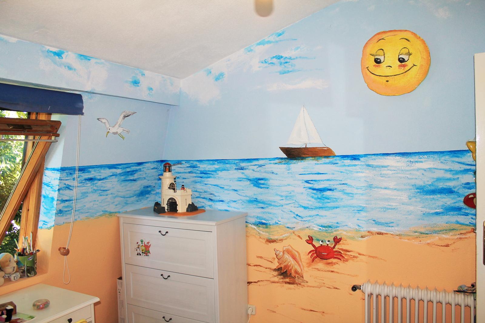 Murales infantiles en colegios y habitaciones murales y trampantojos de gemma s nchez - Mural habitacion infantil ...