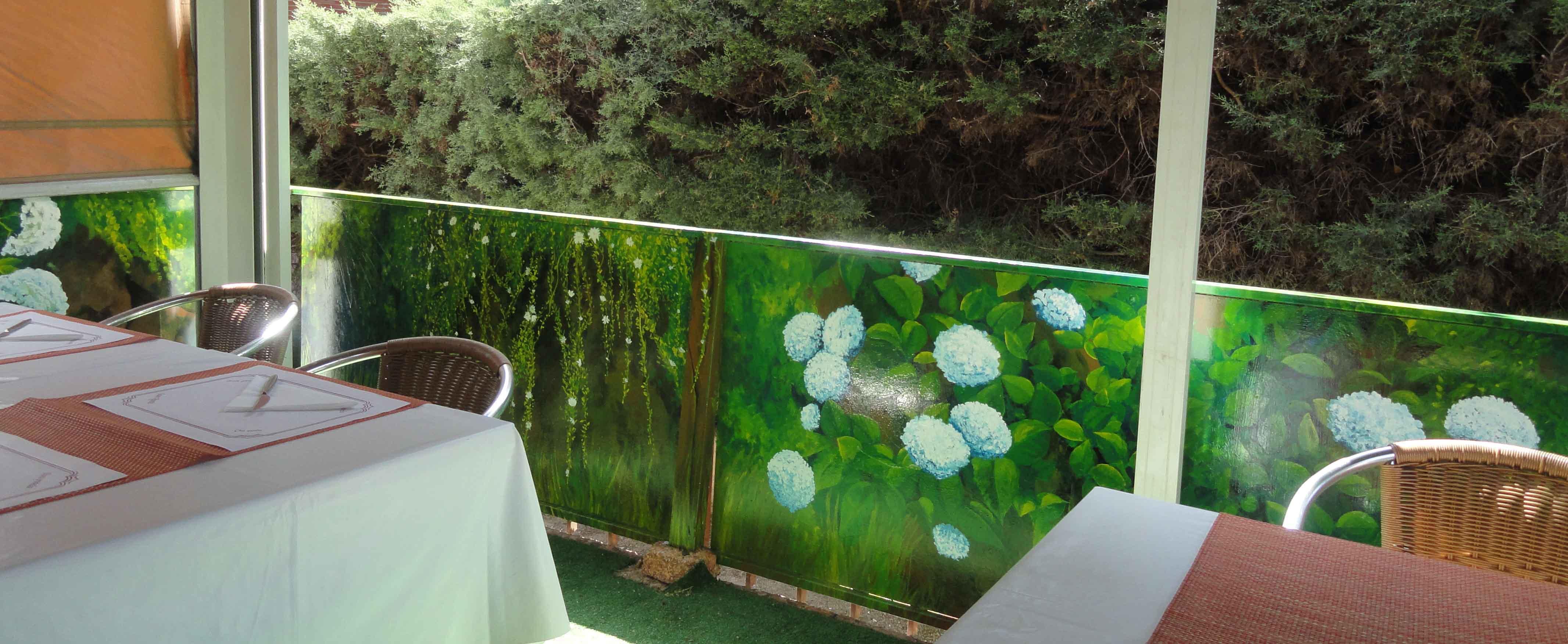 Murales y trampantojos en exteriores jardines y piscinas for Jardines en la terraza